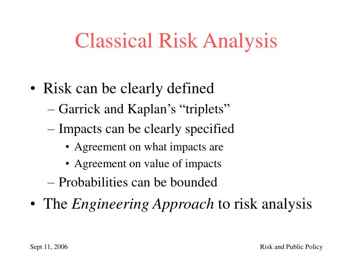 Classical Risk Analysis