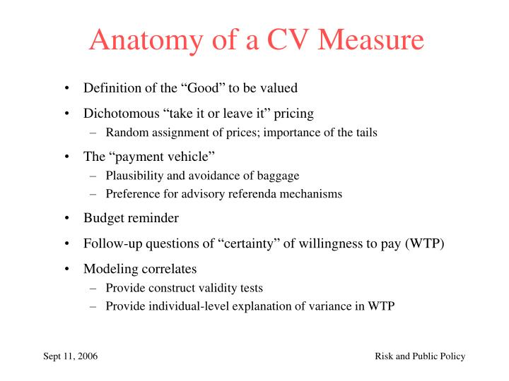 Anatomy of a CV Measure