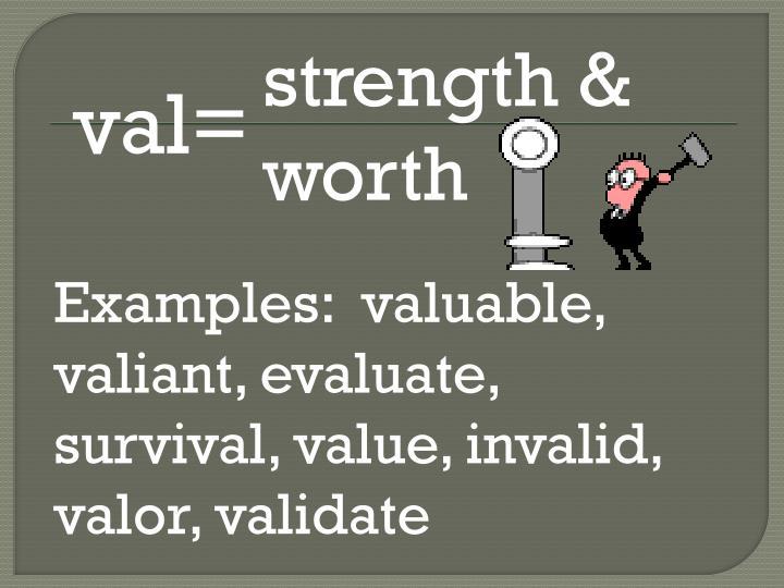 strength & worth