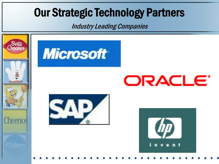 Our Strategic Technology Partners