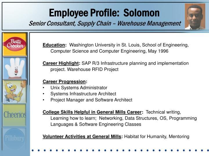 Employee Profile:  Solomon