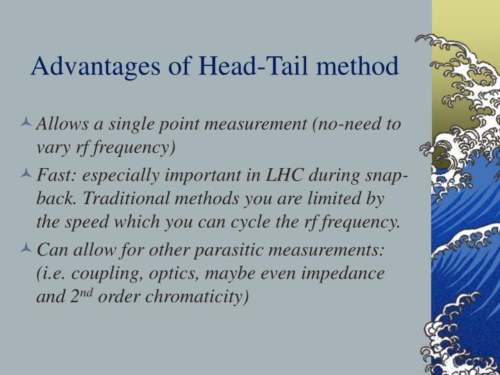 Advantages of Head-Tail method