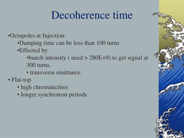 Decoherence time
