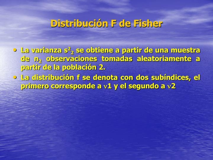 Distribución F de Fisher