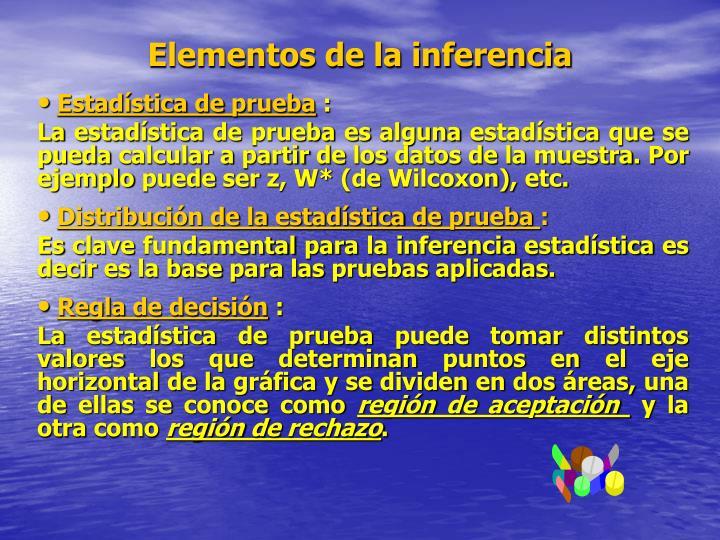 Elementos de la inferencia