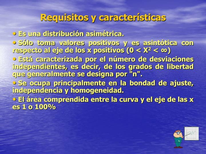 Requisitos y características