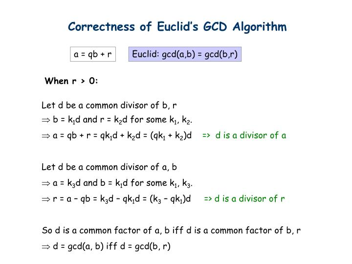 Correctness of Euclid's GCD Algorithm