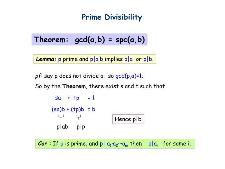 Prime Divisibility