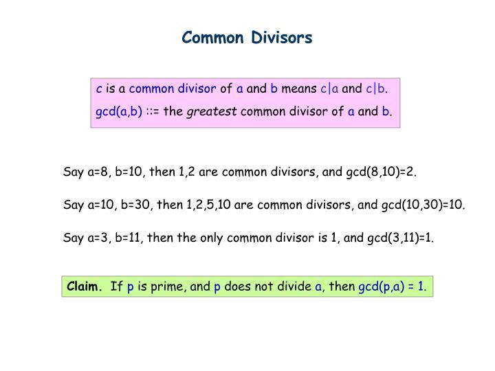Common Divisors