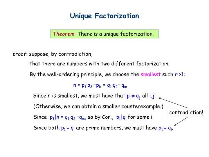Unique Factorization