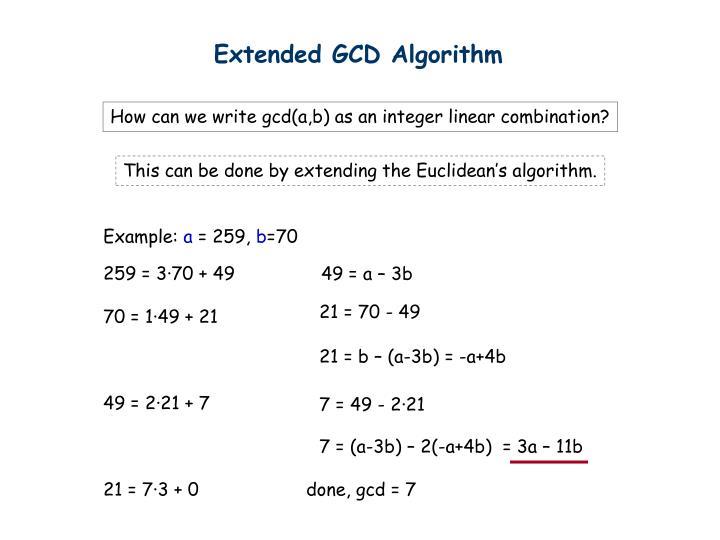 Extended GCD Algorithm