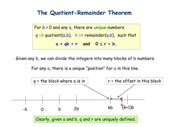 The Quotient-Remainder Theorem
