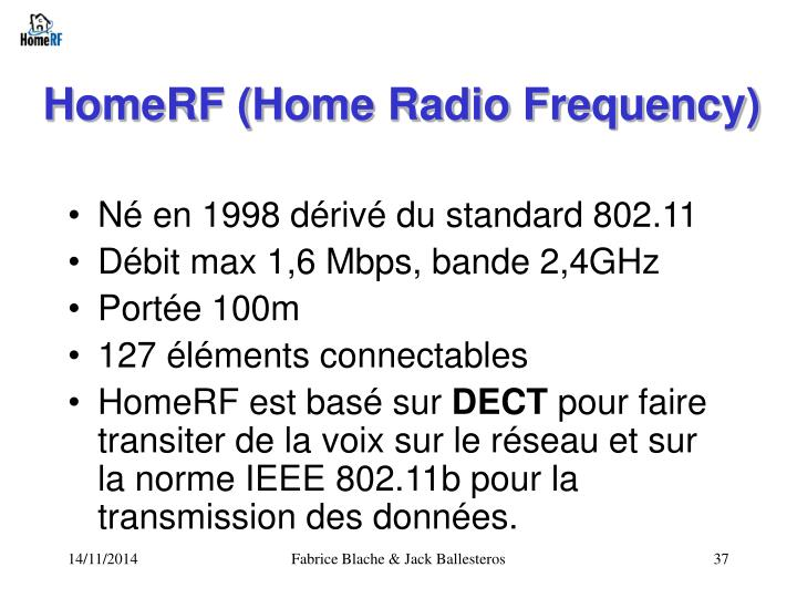 HomeRF (Home Radio Frequency)