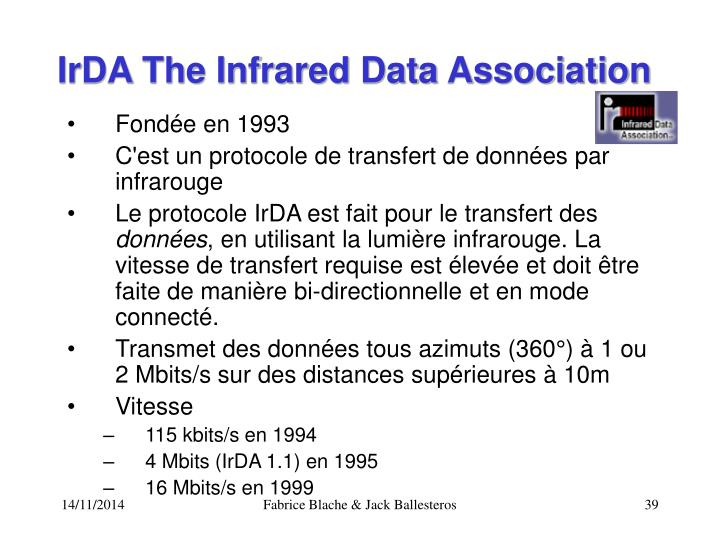 IrDA The Infrared Data Association
