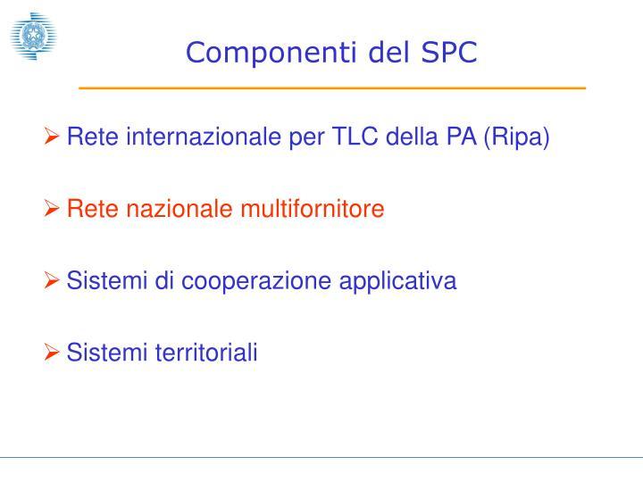 Componenti del SPC