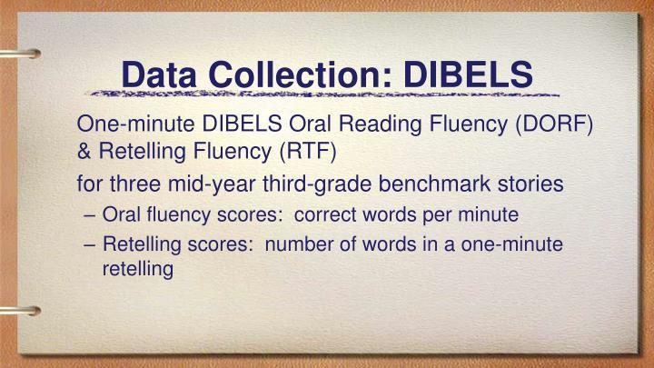 Data Collection: DIBELS