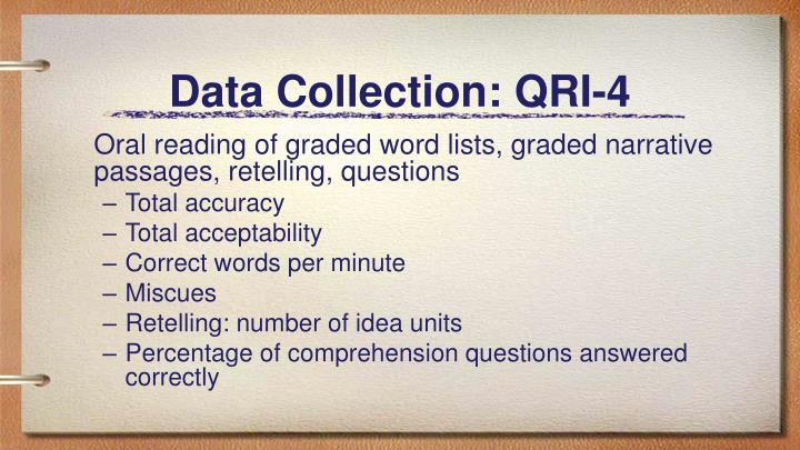Data Collection: QRI-4
