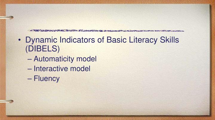 Dynamic Indicators of Basic Literacy Skills (DIBELS)