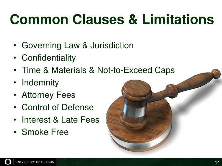 Common Clauses & Limitations