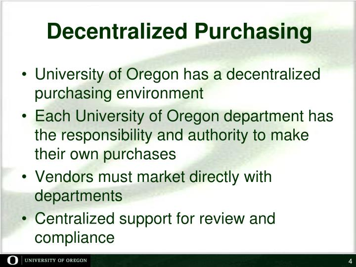 Decentralized Purchasing