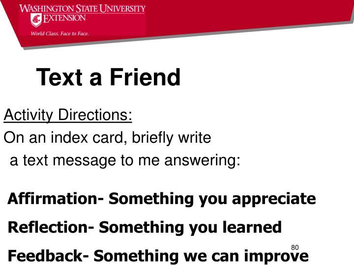 Text a Friend