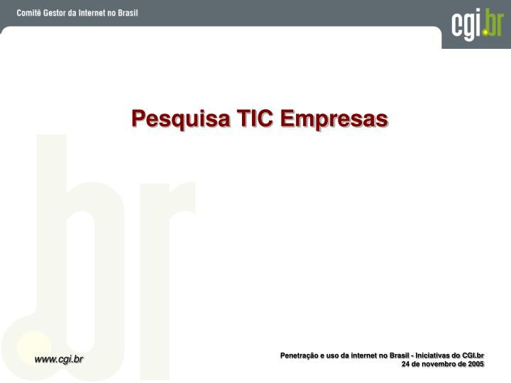 Pesquisa TIC Empresas