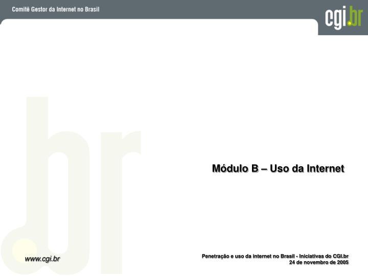 Módulo B – Uso da Internet
