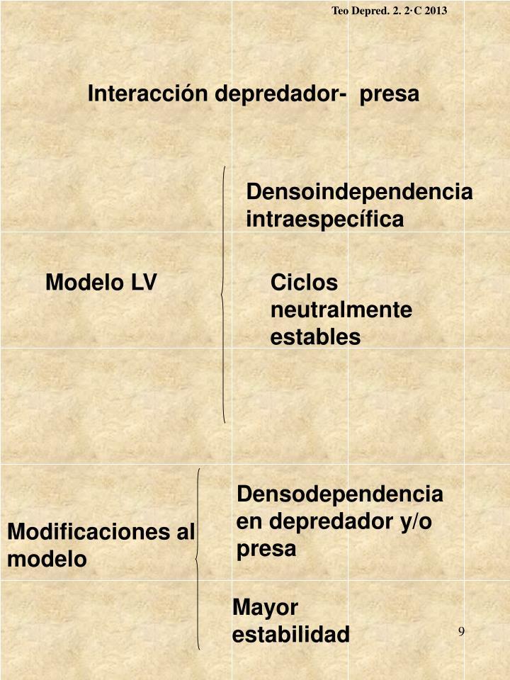 Teo Depred. 2. 2·C 2013
