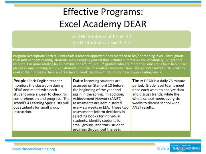 Effective Programs: