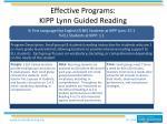 effective programs kipp lynn guided reading