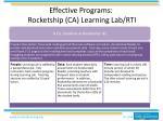 effective programs rocketship ca learning lab rti