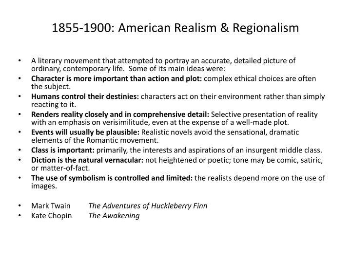 1855-1900: American Realism & Regionalism