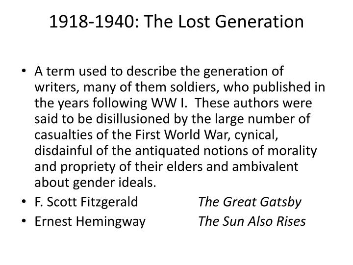 1918-1940: The Lost Generation