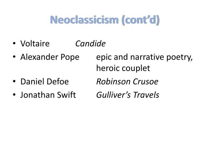 Neoclassicism (cont'd)