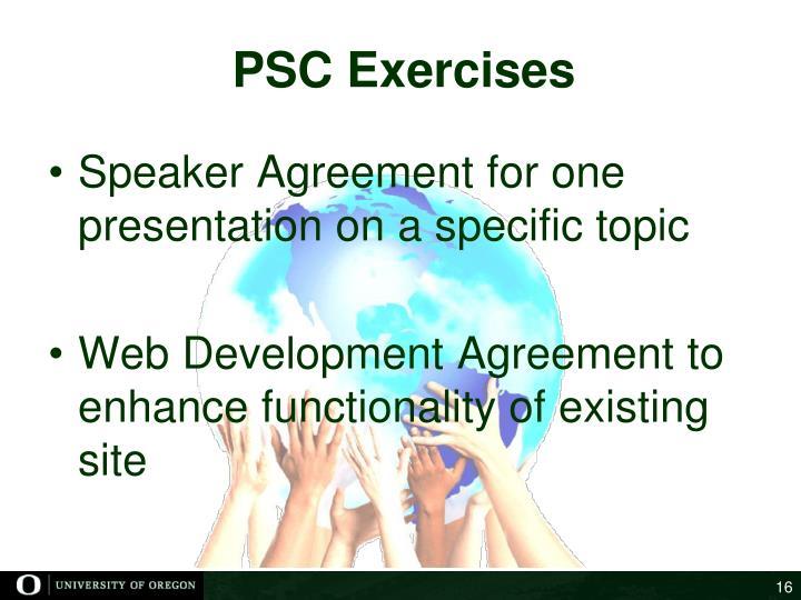 PSC Exercises