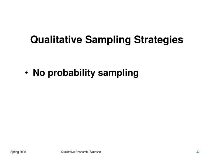 Qualitative Sampling Strategies