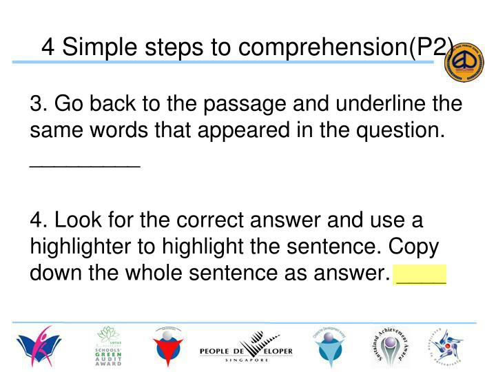 4 Simple steps to comprehension(P2)