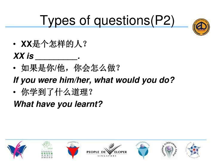 Types of questions(P2)