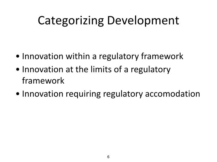 Categorizing Development