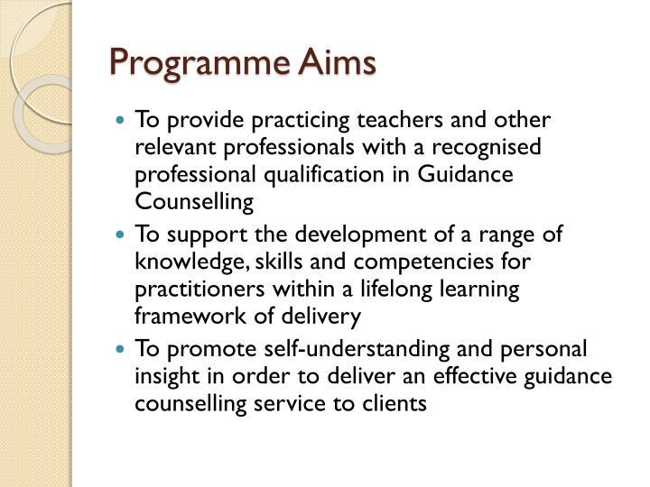 Programme Aims
