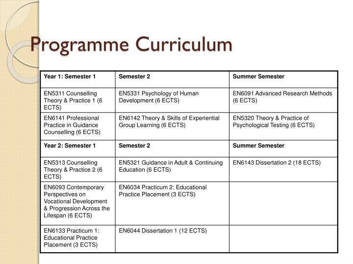 Programme Curriculum