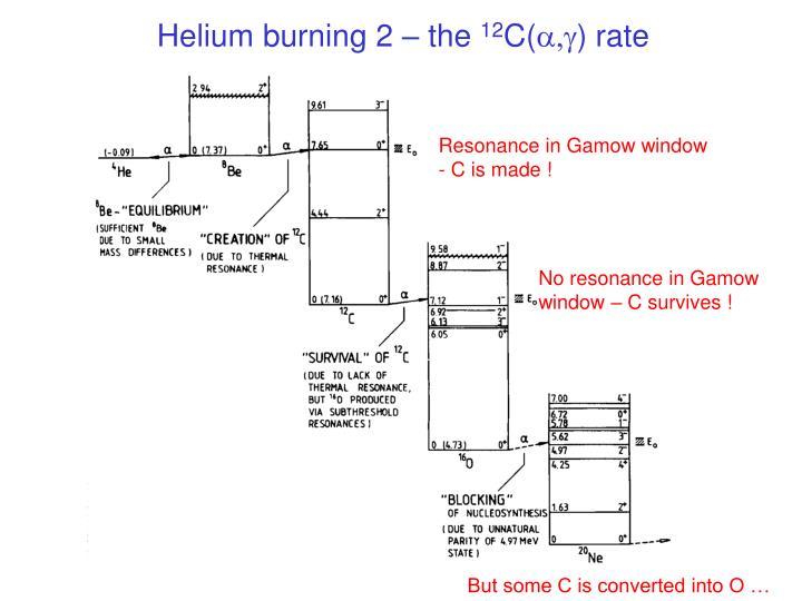 Helium burning 2 – the