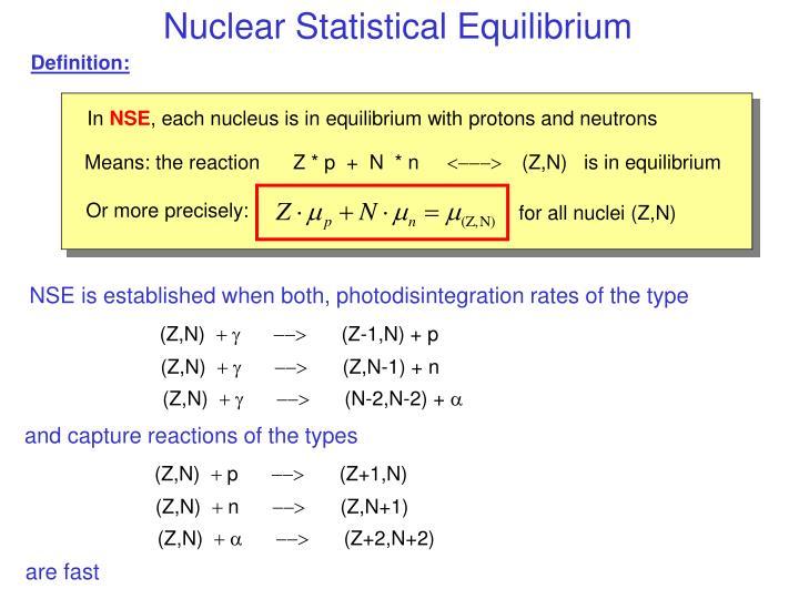 Nuclear Statistical Equilibrium