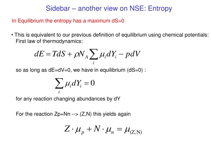 Sidebar – another view on NSE: Entropy