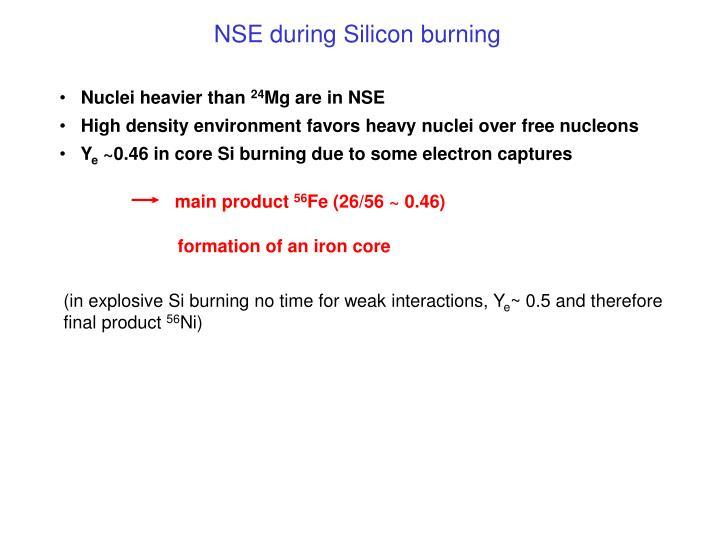 NSE during Silicon burning