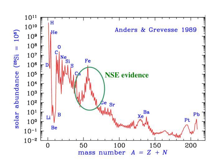NSE evidence