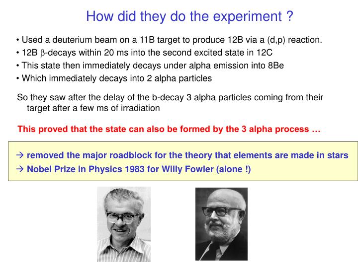 How did they do the experiment ?