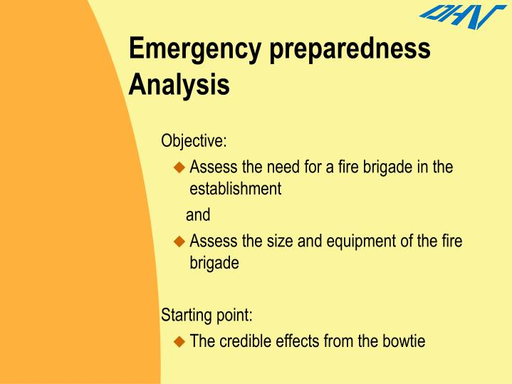 Emergency preparedness Analysis