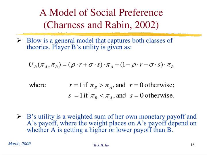 A Model of Social Preference