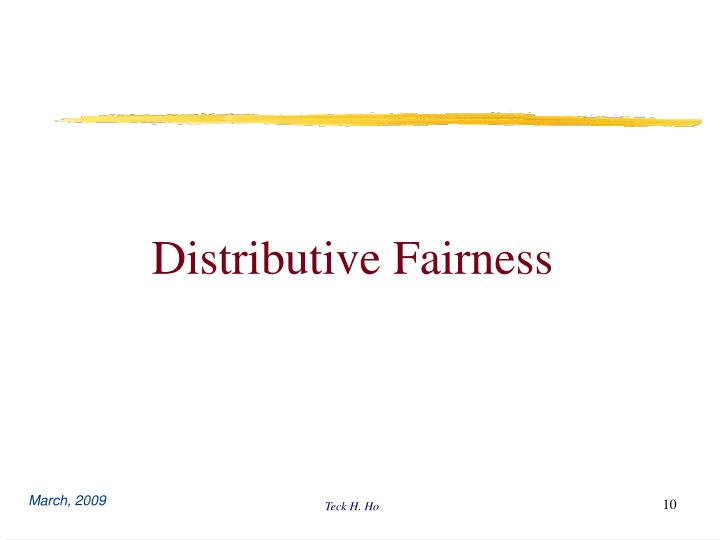 Distributive Fairness